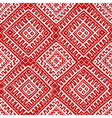 Red Russian ethnic seamless pattern vector image