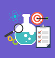 Research concept Flat design stylish Isolated on vector image vector image