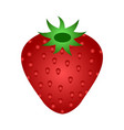 ripe red strawberry icon vector image vector image
