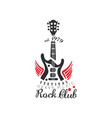 rock club logo heavy music festival est 1979 vector image