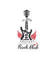 rock club logo heavy music festival est 1979 vector image vector image