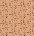 Seamless pattern with arrows bows and heart vector image vector image