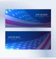 set banners with american flag vector image vector image