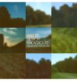 Set of blurred backgrounds landscape vector image vector image