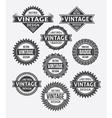 set of retro vintage badge and label design vector image vector image