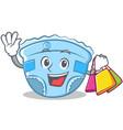 shopping baby diaper character cartoon vector image vector image