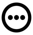 sign continue icon black color in circle vector image vector image