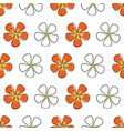 simple orange floral on white background seamless vector image vector image