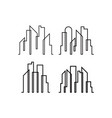 skyscraper line icon design template isolated vector image
