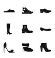 special footwear icons set simple style vector image vector image