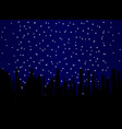 stary night cityscape vector image vector image