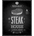 Steak chalk vector image vector image