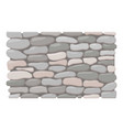 stone fence icon cartoon style vector image vector image