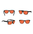 summer sun sunglasses realistic icons set isolated vector image