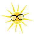 sun yellow and black glasses vector image vector image