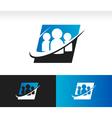 Swoosh Group People Logo Icon vector image