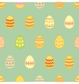 Tile pattern with easter eggs on mint green vector image