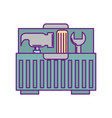 tool box with tools vector image vector image
