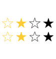 two stars in black and yellow color stars in vector image vector image