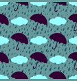 umbrella seamless pattern vector image