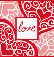 valentines day vintage greeting card with the vector image vector image