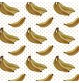 Vintage Watercolor bananas pattern vector image