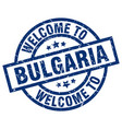 welcome to bulgaria blue stamp vector image vector image