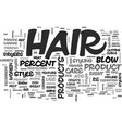 what s your hair iq text word cloud concept vector image vector image