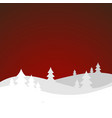 winter landscape with hills vector image vector image