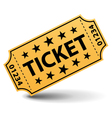 Yellow ticket with stars