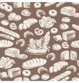 bakery retro seamlrss pattern vector image