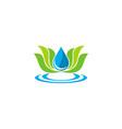lotus flower ecology water logo vector image