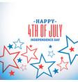 4th july celebration background vector image vector image