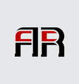 a and r - initials or logo ar - monogram or vector image