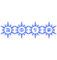 abstract 2019 snowflakes vector image vector image