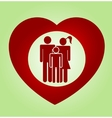 abstract heart family vector image vector image