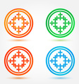 Abstract icons set made of circles and crosses vector image