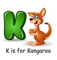animals alphabet k is for kangaroo vector image