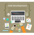 Application or website development Flat design vector image vector image