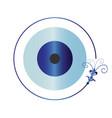 artistic blue evil eye vector image vector image