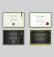 big set diploma or certificate premium design vector image
