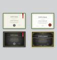 big set of diploma or certificate premium design vector image