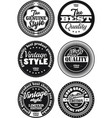 black and white vintage labels collection 3 vector image vector image