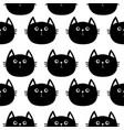 black cat cute cartoon character baby pet vector image