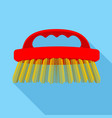 body brush icon flat style vector image vector image