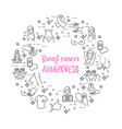 breast cancer awareness icons vector image vector image