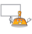 bring board dustpan character cartoon style vector image vector image