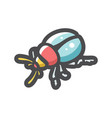 bug beetle dor icon cartoon vector image