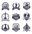 chess club emblem game tournament vector image