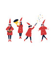 christmas fair performers flat vector image vector image